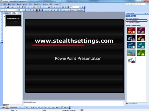 Color Schemes in PowerPoint
