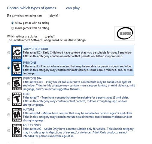 Games Restriction
