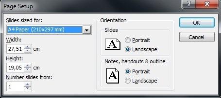 Page Setup v PowerPointu