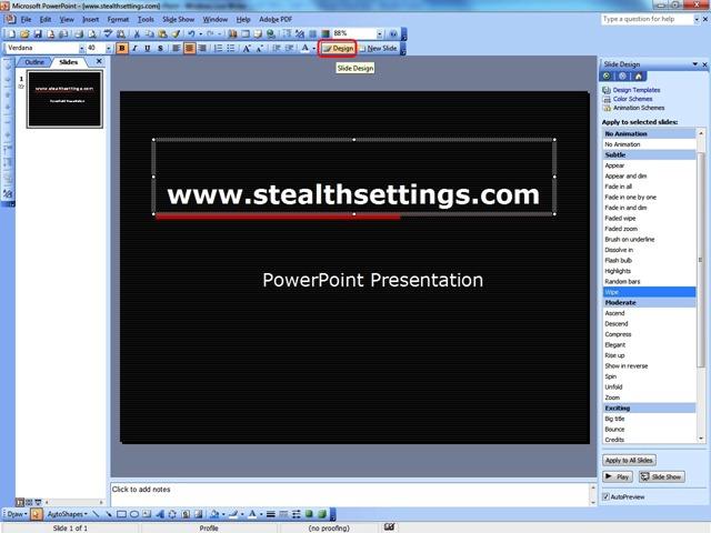 PowerPoint Slide Oblikovanje