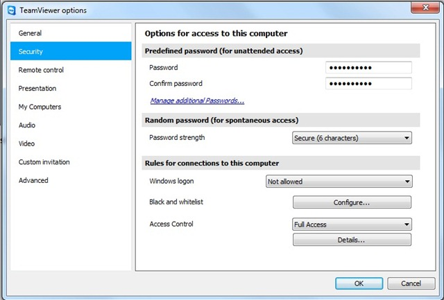 Controls remotely your PC with Teamviewer - STEALTH SETTINGS