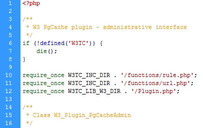 w3cache - Fix pgcacheadmin