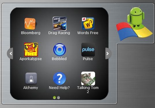 BlueStacks Desktop Pripomoček