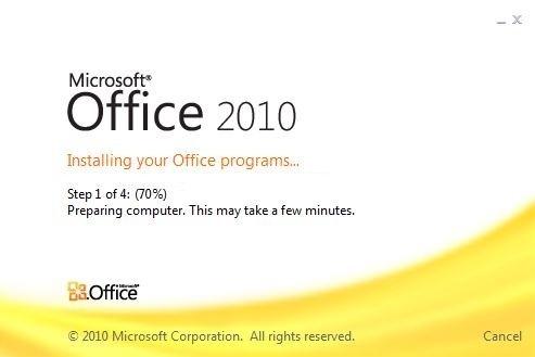 32-bittisen (oletus) Office 2010:n asentaminen