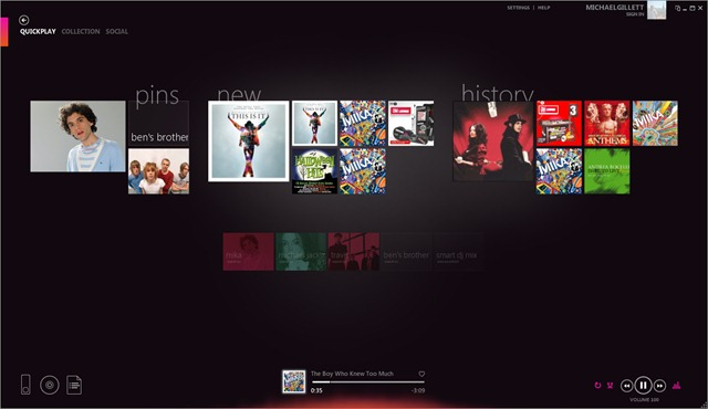 Zune media player for windows.
