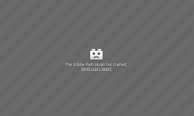Adobe Flash-crash-
