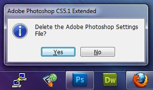 Reset Photoshop Settings