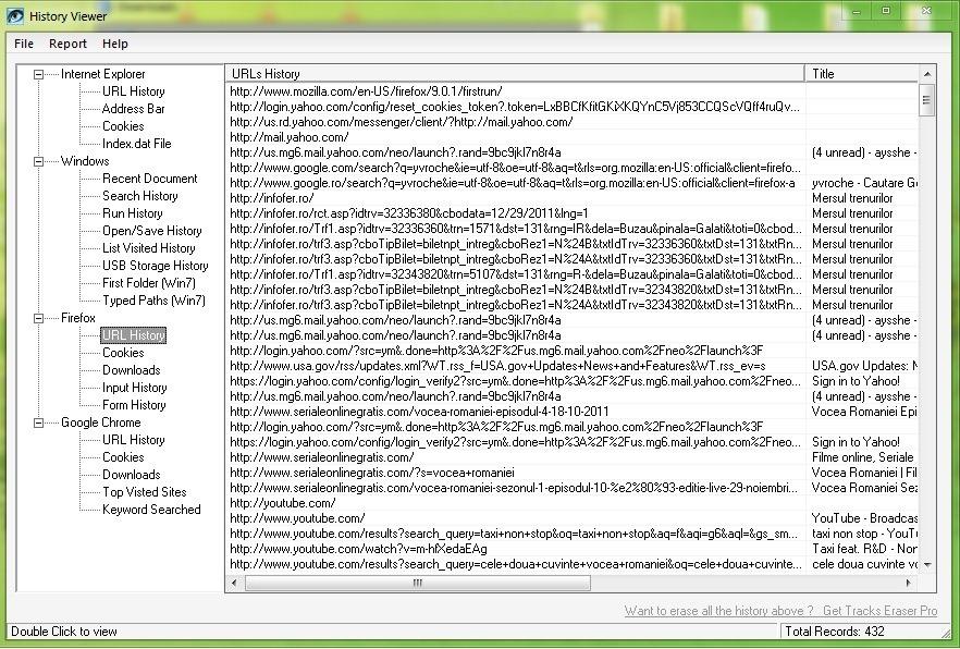 Cara melihat sejarah navigasi dari semua browser yang