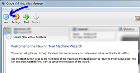 Add New System VirtualBox