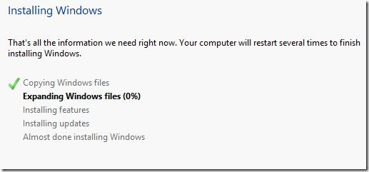 Windows 8 Installing