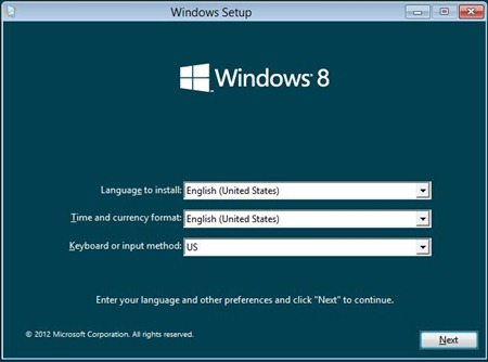 Windows 8 Setup 1