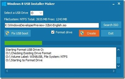 Windows 8-USB-Installer Maker