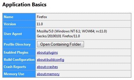 om stöd Mozilla Firefox