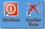 shutdown-snelkoppelingen