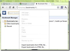 chrome-bookmark manager
