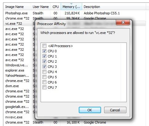 Limit CPU jadro