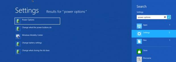 търсене-опция мощност