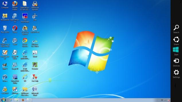 Añadir el menú de Windows encantos 8 7 a Windows, Windows