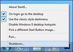 start8-Einstellungen