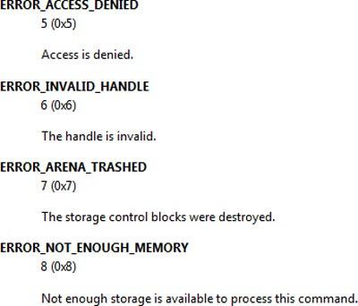 system-error-कोड