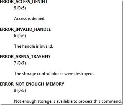 järjestelmä-error-koodit