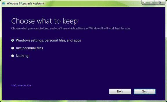 유지_Settings_Windows_8_Upgrade_Assistant