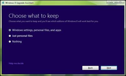 Ha kvar_Settings_Windows_8_Upgrade_Assistant