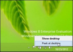 peek @ desktop