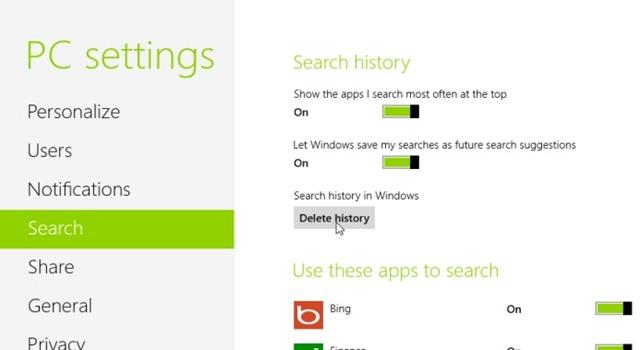 historique des recherches-settings
