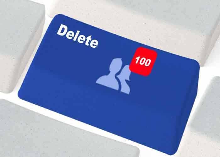 删除许多朋友在Facebook的
