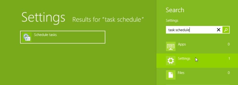 ouvert le planificateur de tâches