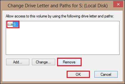 премахнете твърдия диск от писмо