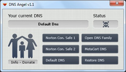 DNS angelas neįvykdymo