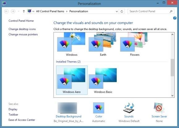 T l charger th me aero pour windows 8 reglages stealth - Performances du bureau pour windows aero ...