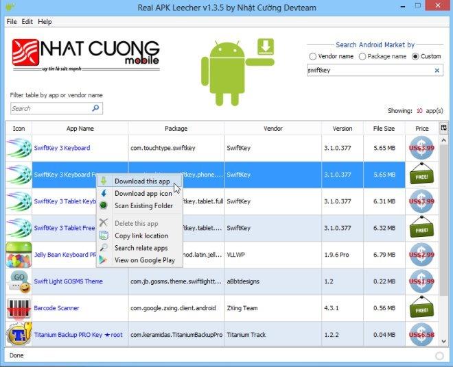 Real-APK-Leecher-app-list