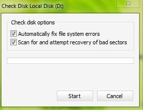 Проверка на диска опции