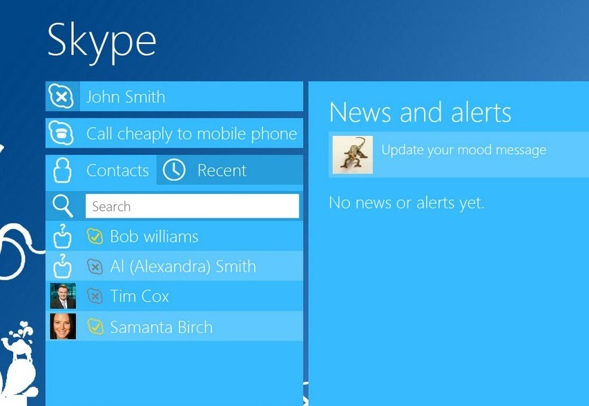 Skype for Windows 8 now supports file transfer between users