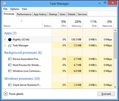 windows8 task manager