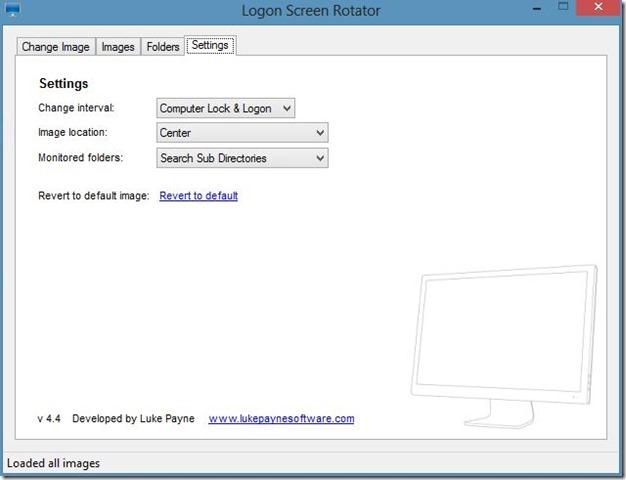 Logon Screen Rotator-Options,