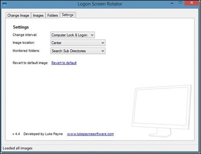 Logon Screen Rotator-Options-