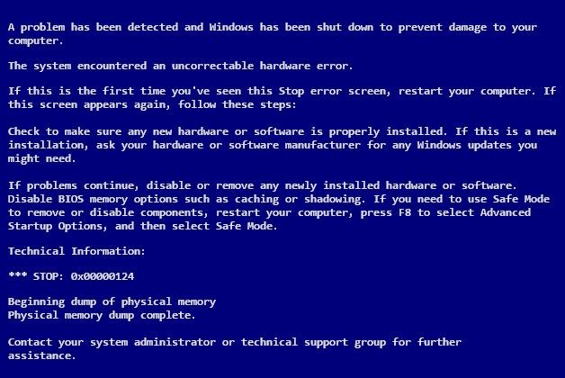 how to solve blue screen problem in windows xp