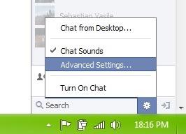 kontakter facebook chat