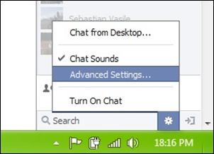 facebook chat instellingen