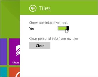 viser administrative-værktøjer