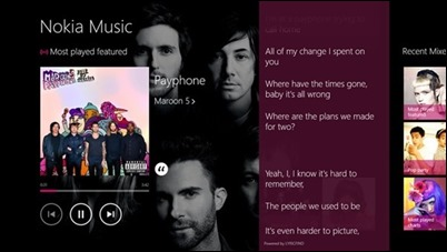 Nokia-Music-lyrics