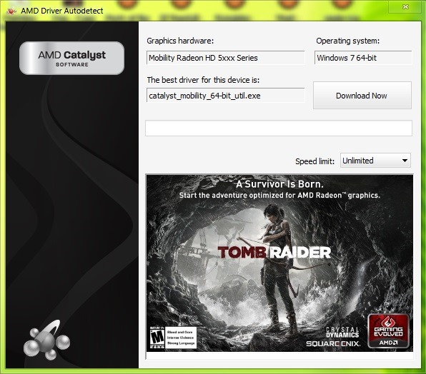 Updates AMD Video Card Drivers with AMD Driver Autodetect