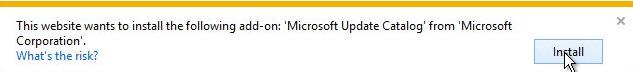 install-Microsoft-Katalog ažuriranja-add-na