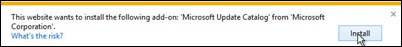 Installs Microsoft-Update-Catalog-add-on