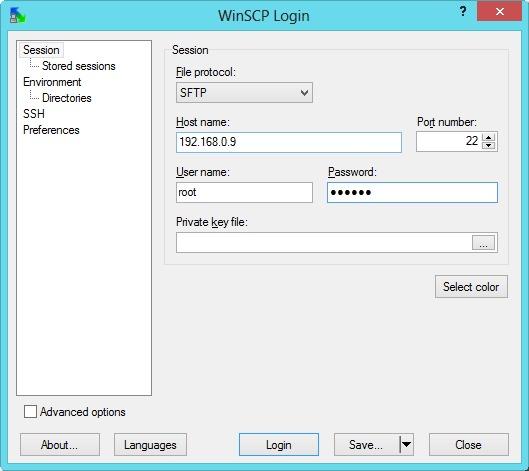 SSH-SFTP-Prijava