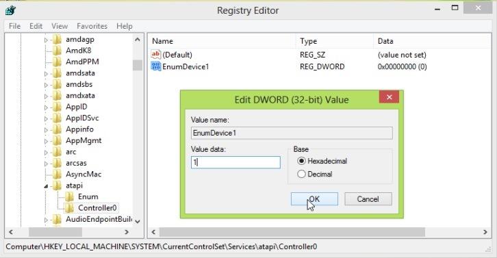 stvoriti-Registry ulaz